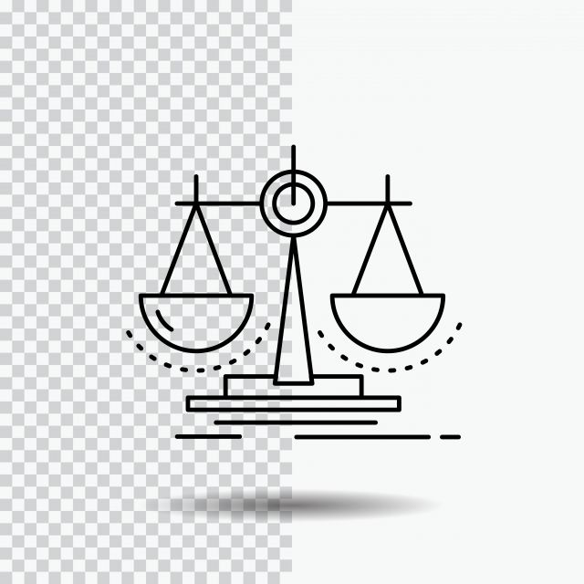 Balance Decision Justice Law Scale Line Icon On Transparent Court Clipart Line Icons Transparent Icons Png And Vector With Transparent Background For Free Do Line Icon Alphabet Illustration Icon