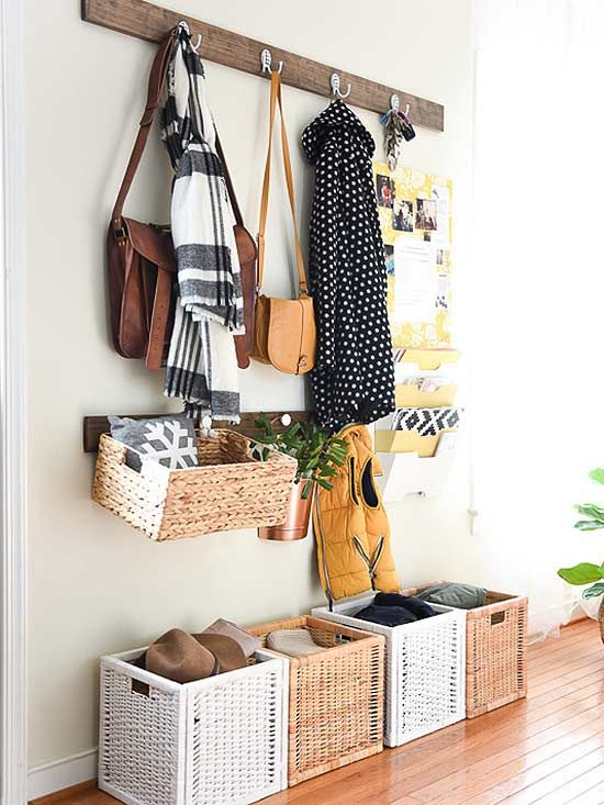 Small spaces might seem easier than larger ones to keep tidy, but they actually require a lot of attention to stay organized! Follow @peachstreet's lead and pack tight entryways with these 5 savvy storage products.