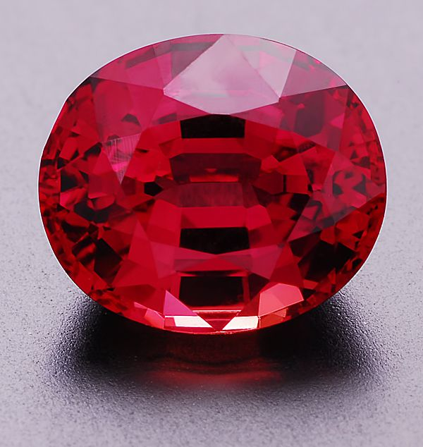 Red Sapphire (Berylium treatment), 1.94cts, Oval, Songea, Tanzania. Beautiful color, excellent cut.