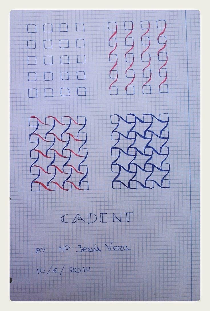 Cuaderno de patrones zentangle: patrón CADENT
