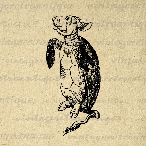 Alice in Wonderland Mock Turtle Image by VintageRetroAntique