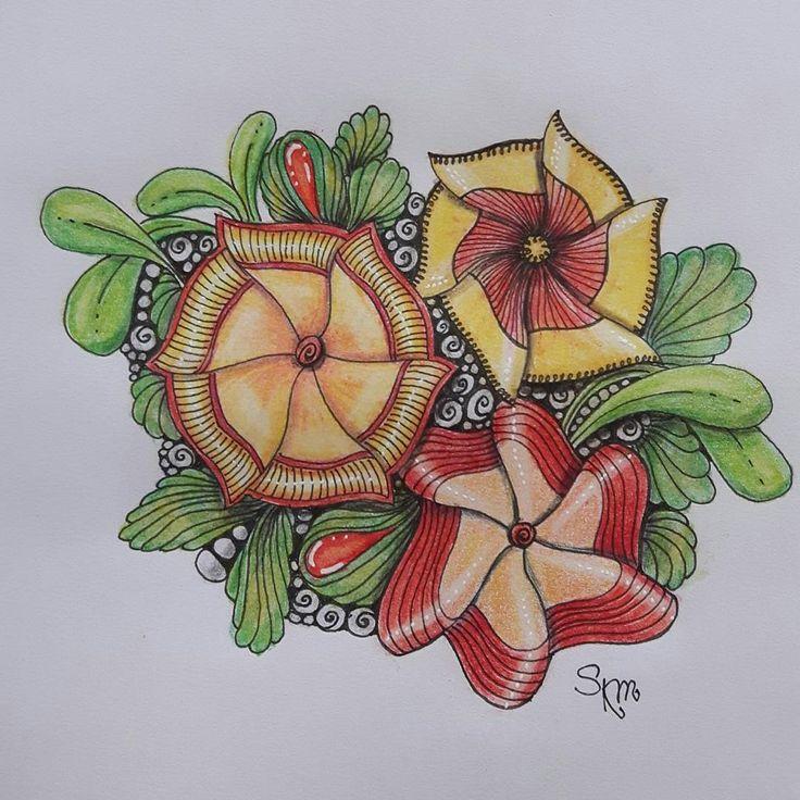 "Gefällt 19 Mal, 2 Kommentare - Sa Bine (@sa_bine_bin) auf Instagram: ""#flowflower #zentangle #zentanglechallenge #art #lovetotangle"""