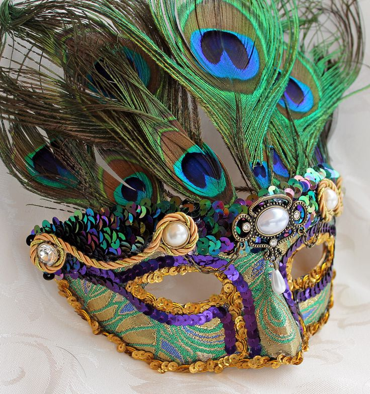 Proud as a Peacock Mardi Gras Mask by DaraGallery on DeviantArt
