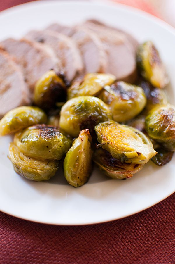 The ultimate Thanksgiving side dish, maple sage roasted brussels sprouts pair the popular fall herb sage with sweet and buttery maple syrup.
