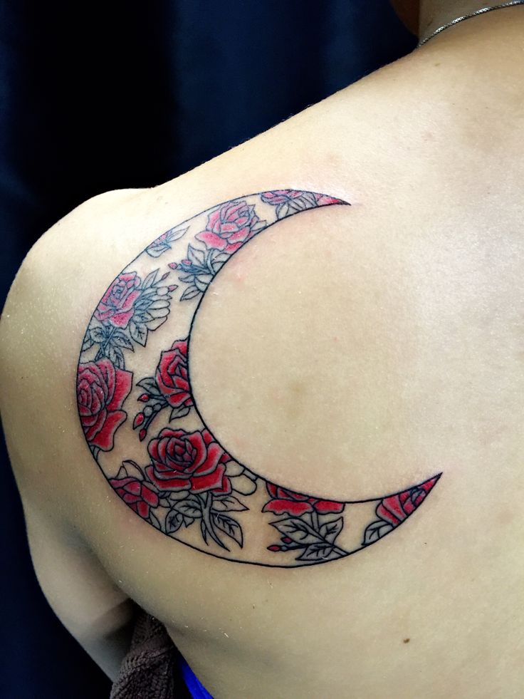 red moon tattoo - photo #28