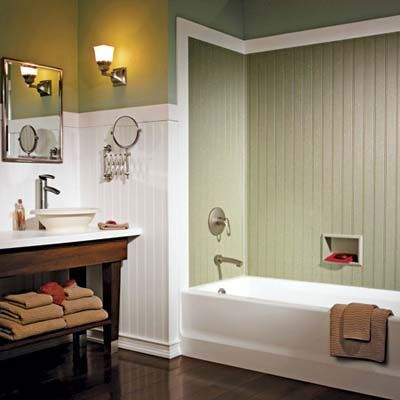 25 best ideas about waterproof bathroom wall panels on - Beadboard small bathroom pictures ...