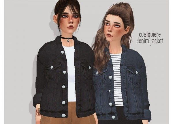 Pure Sims: Denim jacket • Sims 4 Downloads – Sims 4