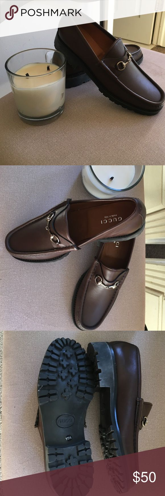Mens Gucci Loafers (Brown) Brand new! Never been worn!  Great deal for the price! Put your man in style for a fraction of the price! Gucci Shoes Loafers & Slip-Ons