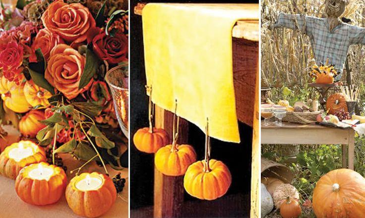 pumpkin bridal shower favors | Thanksgiving Weddings