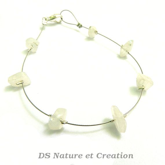 Dainty bohemian bracelet rainbow moonstone by DSNatureetCreation www.etsy.com/listing/232209642/dainty-bohemian-bracelet-rainbow