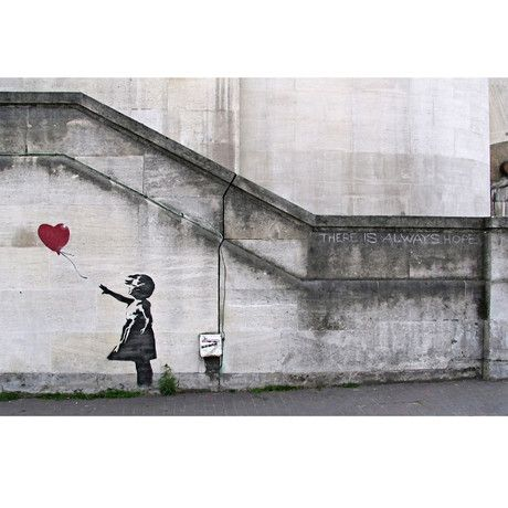 There Is Always Hope Balloon Girl  Banksy on Canvas
