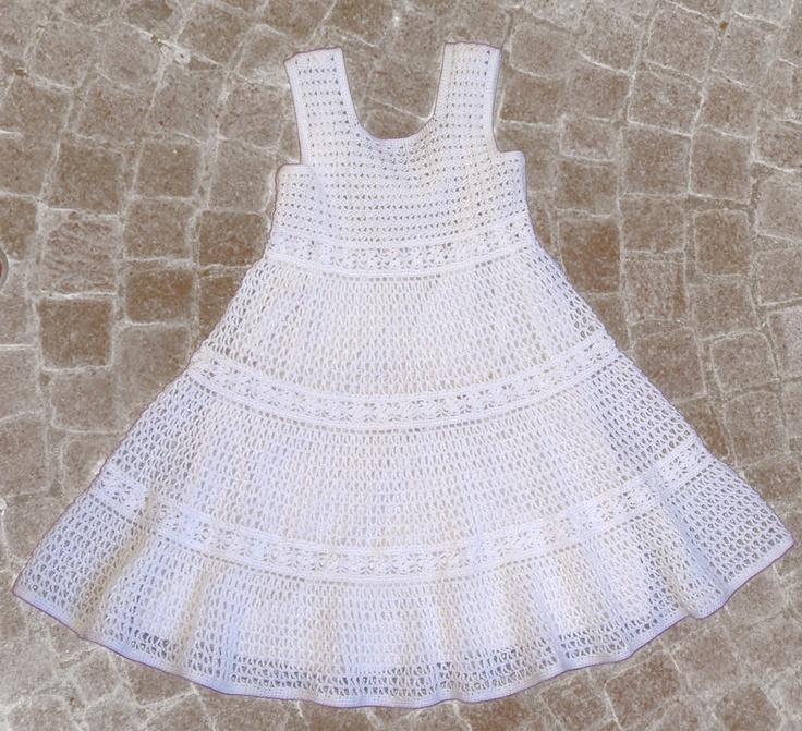 Crochet White Dress : ... dresses girl s dress princess dresses crocheted dresses knitted dress
