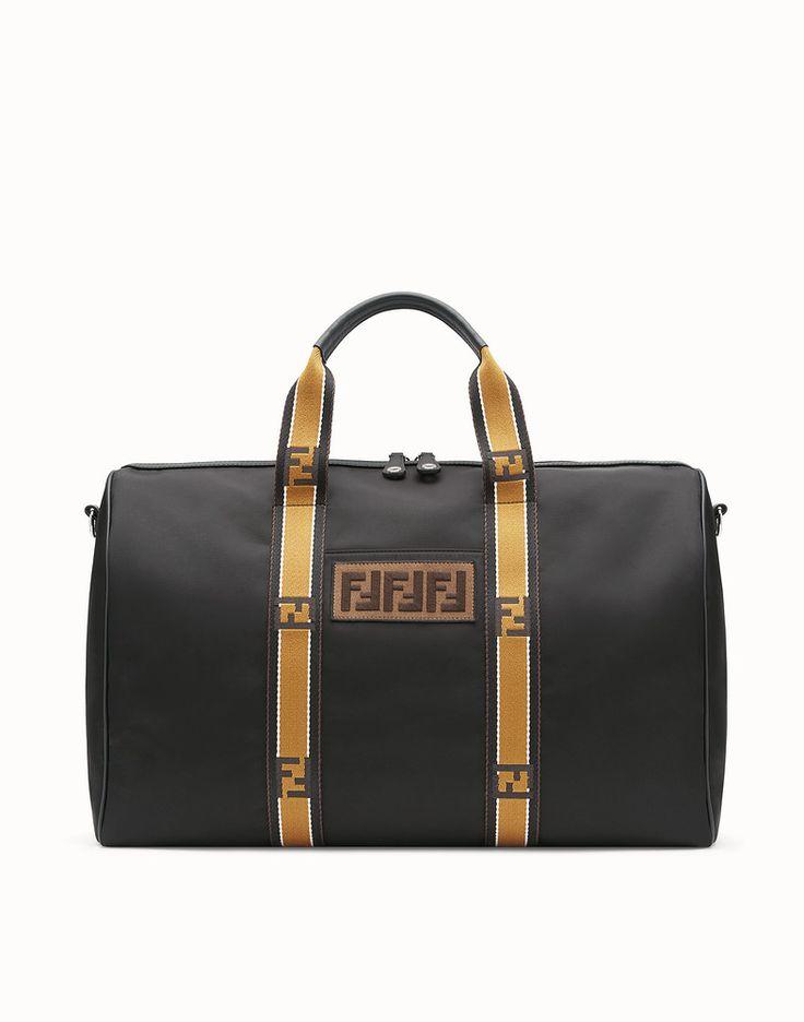 FENDI SATCHEL - Black nylon bag - view 1 detail