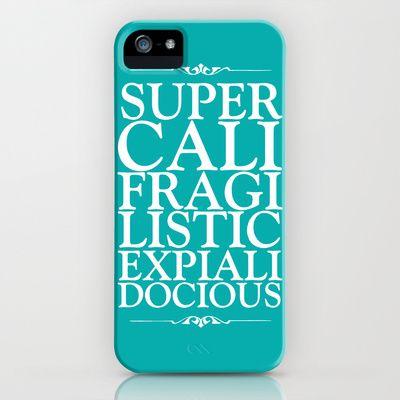 Supercalifragilisticexpialidocious - peacock iPhone & iPod Case by Zoe Ingram - $35.00