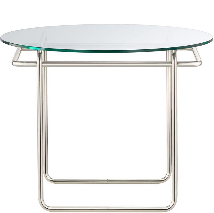 TECTA K40 Kristallglas Couch-Tisch Marcel-Breuer Bauhaus front 1