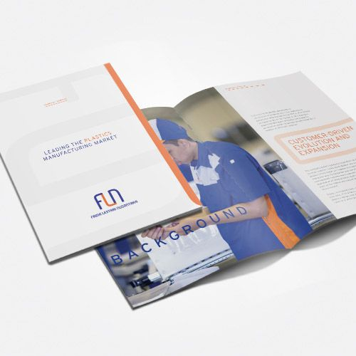 FLN Plastic Manufacturer Company Profile design by significan-design.com