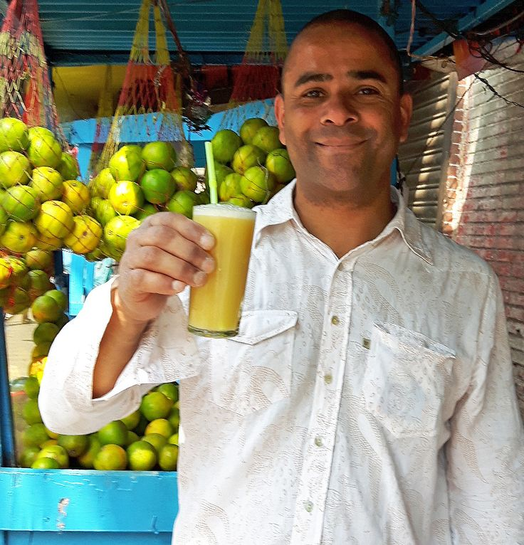 Scaramanga's Carl sourcing new orange juice glasses on one of his trips to India