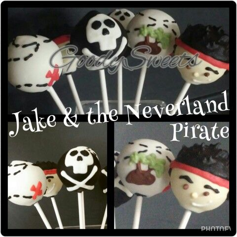 Jake & the Neverland Pirate Cake Pops #GoodySweets