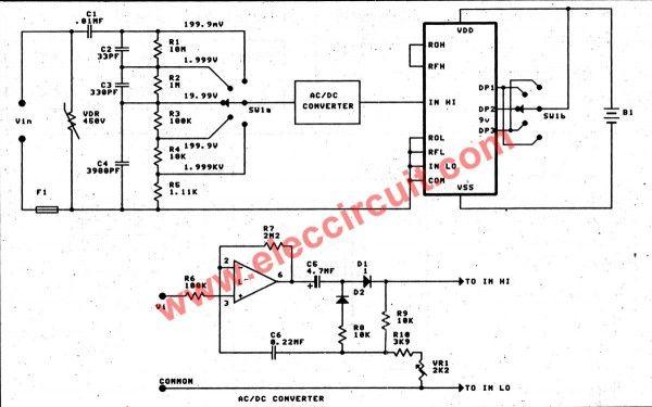 Digital Multimeter Schematic Diagram