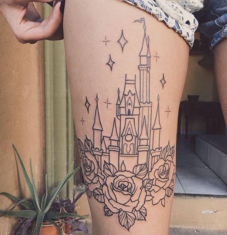 My disney castle tattoo! #disney #disneytatto #tattoo #love #ink #disneyfan #castle