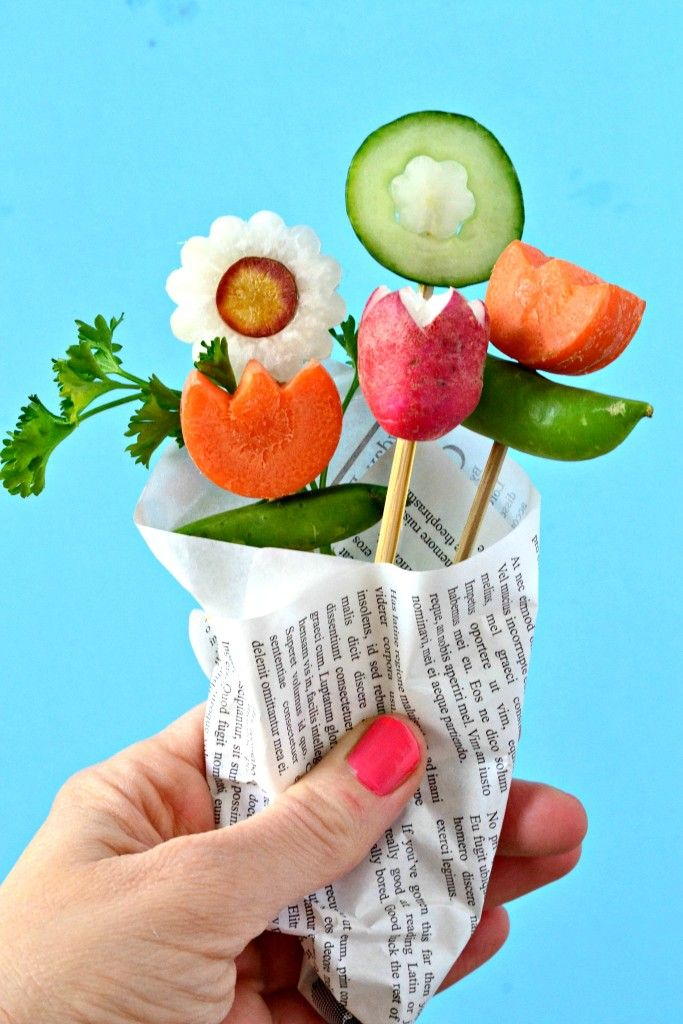 Skip the roses, make your honey a bouquet of veggies! Non-dairy Ranch dressing recipe included...