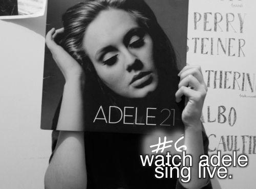 Go to an Adele concert
