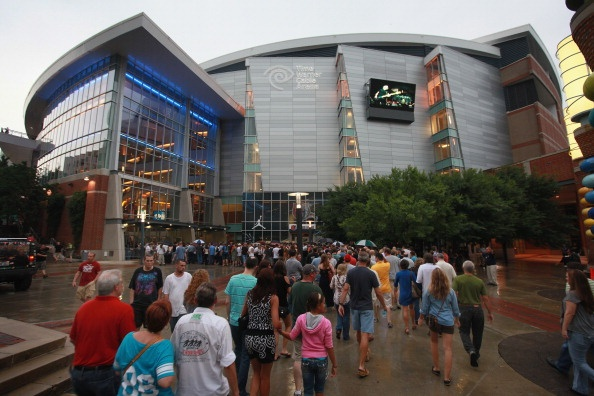 : The Time Warner Cable Arena, home for the Charlotte Bobcats NBA team, hosts a Roger Waters concert on July 10, 2012 in Charlotte, North Carolina. The 2012 Democratic National Convention will be held at the arena September 3-6!