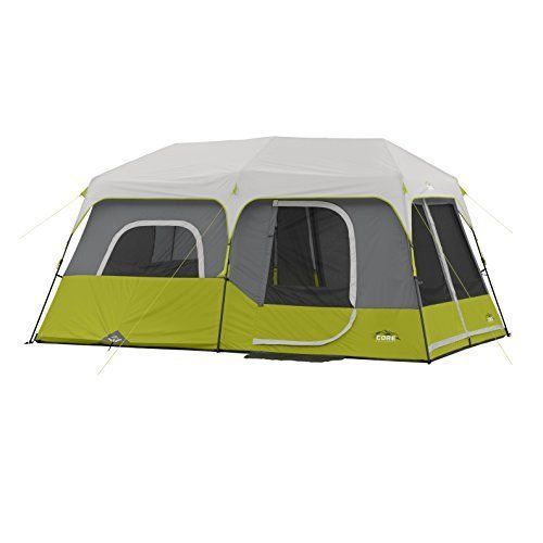 9 Person Instant Cabin Tent w/ Rain Fly Tent Stakes Carry Bag Easy Setup 14'x 9' #COREEquipment