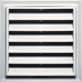 Builders Edge�12-in x 12-in White Vinyl Gable Vent