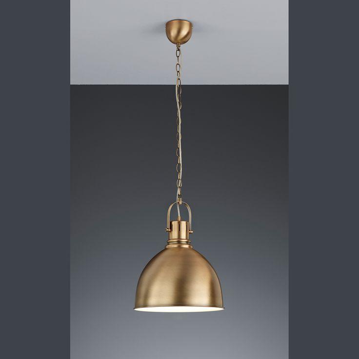 Pendelleuchte, VINTAGE, altmessing, Designlampe