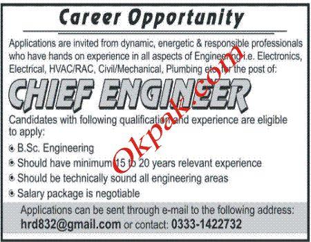 212 best Jobs In Pakistan images on Pinterest Pakistan, Jobs in - chief engineer job description