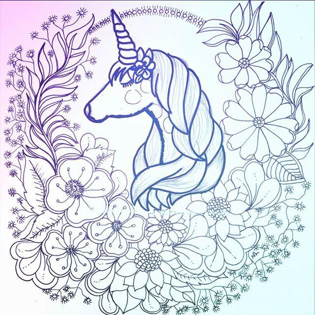 Nathalia Lodi No Instagram Unicorn Art Art Prints Moose Art