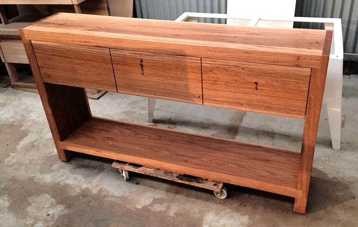 recycled timber console