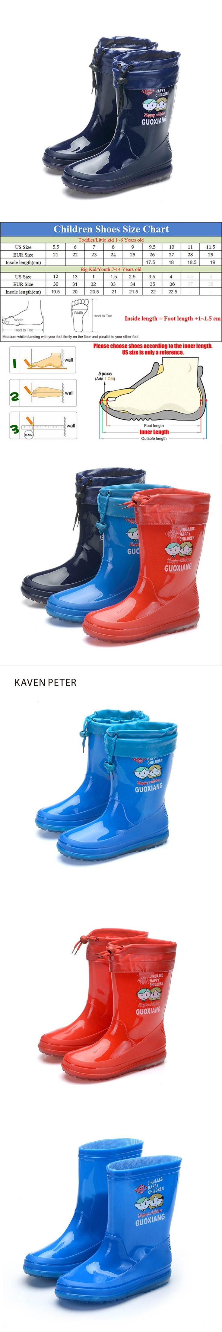 Children's rubber boots for girls boys kids rain boots PVC non-slip waterproof with cotton sets baby boots outdoor shoes Botas #babyrainboots