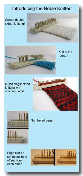 Free Knitting Board Patterns | Frame Knitting for your Noble Knitters, knitting boards , knitting ...