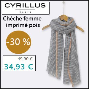 #missbonreduction; Réduction de 30 % sur le Chèche femme imprimé pois chez Cyrillus. http://www.miss-bon-reduction.fr//details-bon-reduction-Cyrillus-i228-c1828628.html