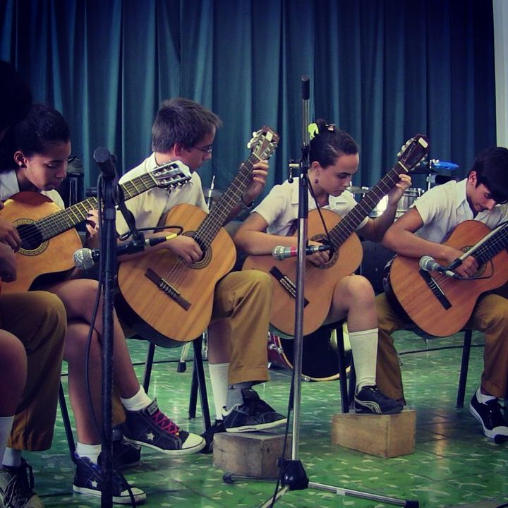 Guitar ensemble from guanabacoa school. Havana Cuba