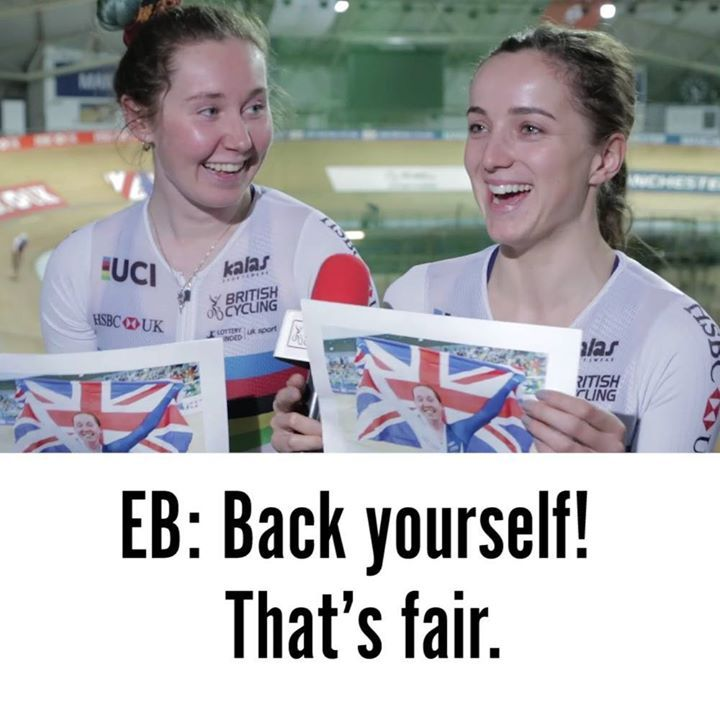 Most entertaining autobiography? 📖 Watch world champs Elinor Barker and Katie Archibald write another chapter in their cycling careers at the #TrackChamps   Tickets 🎟 po.st/bcticketmaster #cycling #sportsbase #cyclinglife #health #fashion #cyclist #healthyliving #sport #sporting #sportlife #fitness #fitnesslife #fitnessliving #yoga #yogalovers #yogalife