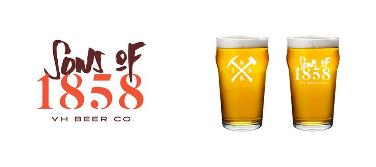 Sons of 1858 craft beer branding and design -  http://vigorbranding.com/portfolio/sons-of-1858-craft-beer-branding/