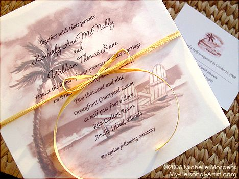 The Perfect Beach Wedding Invitations For Beach Weddings! If You Are  Planning A Destination Wedding Or Tropical Wedding On The Beach, Mospens  Studio Has A ...