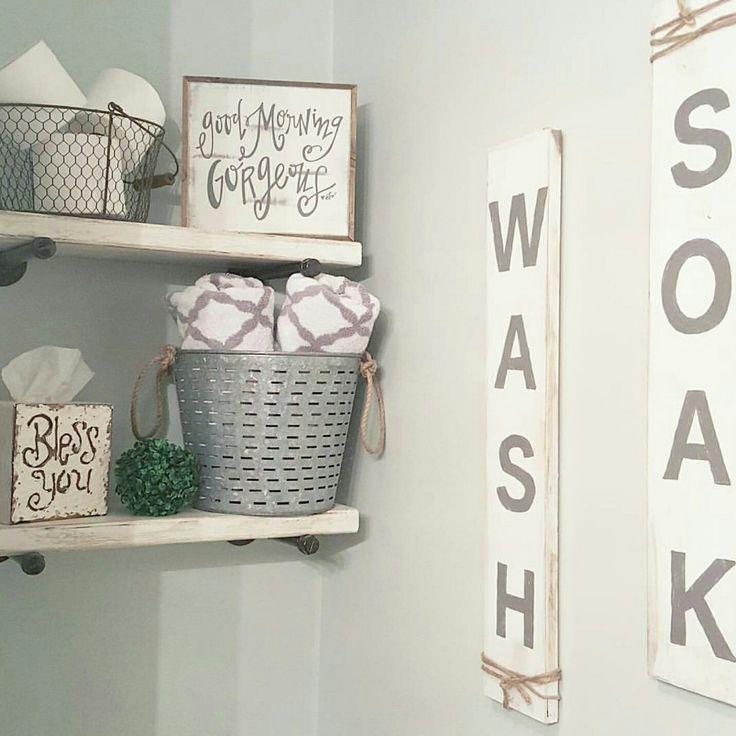 Digital Art Gallery Bathroom decor Farmhouse style Handmade signs