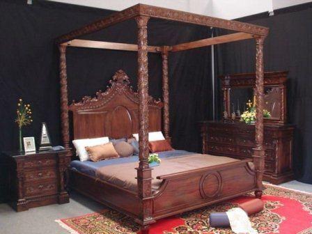 Set Tempat Tidur Kanopi Ukir | Kamar Set Jati | Kamar Set Kanopi | Jual Harga Murah | Berkualitas | Jati | Cantik | Rapi | Mewah | Terbaru | Desain | Gambar | Model | Ukuran | Furniture Kamar | Ukir | Toko Online