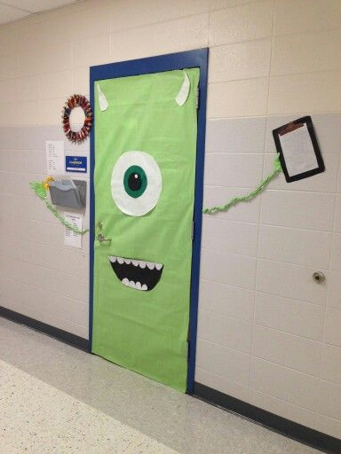 mike wazowski monsters inc door by bambi and beth