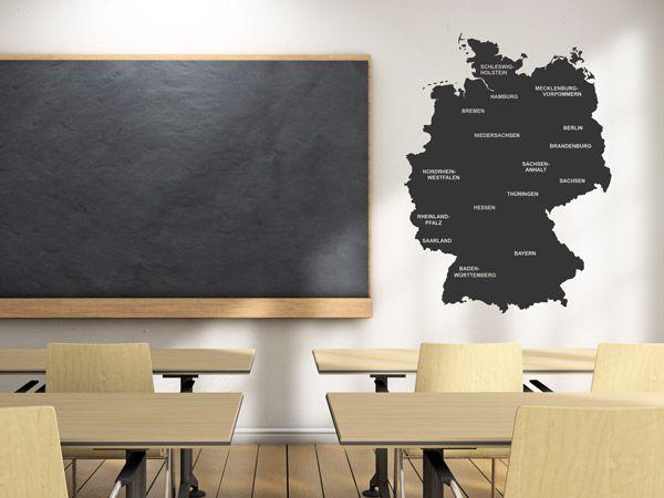 wandtattoo deutschlandkarte Landkarten als Wandtattoos   Deutschland, Frankreich, Weltkarte