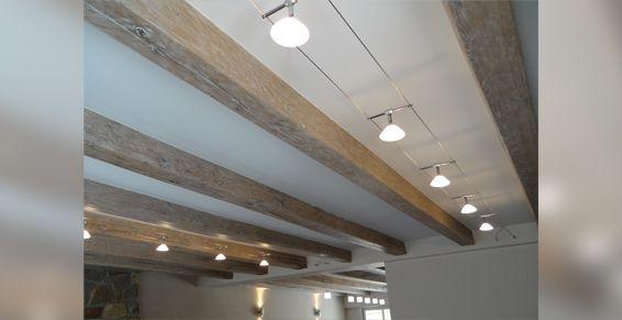 Rénovation plafond ancien et luminaires cable tendu avec LED