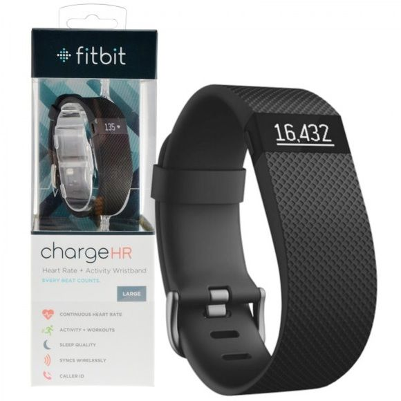 Black Fitbit Charge HR (Large) Bought from Kohl's for $150 and used for about a month or so. I liked it when I used it. Does not come with box, but comes with charger, that little dongle thing, and instruction booklet. Fitbit Other
