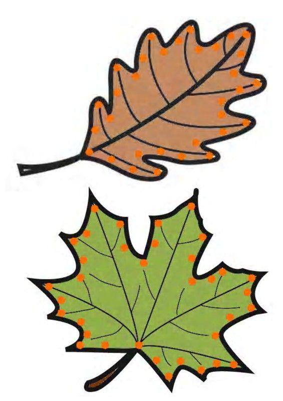 Gabarit - Feuilles d'automne à lacer