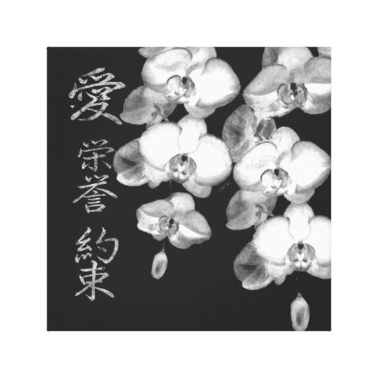 Japanese Orchids Canvas Print