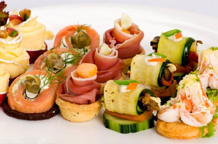 Assorted canapes nibbles and bites pinterest for Wedding canape ideas