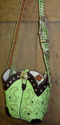 how to make purse out of cowboy boots